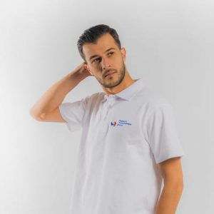 Polo Spring II blanc-Homme